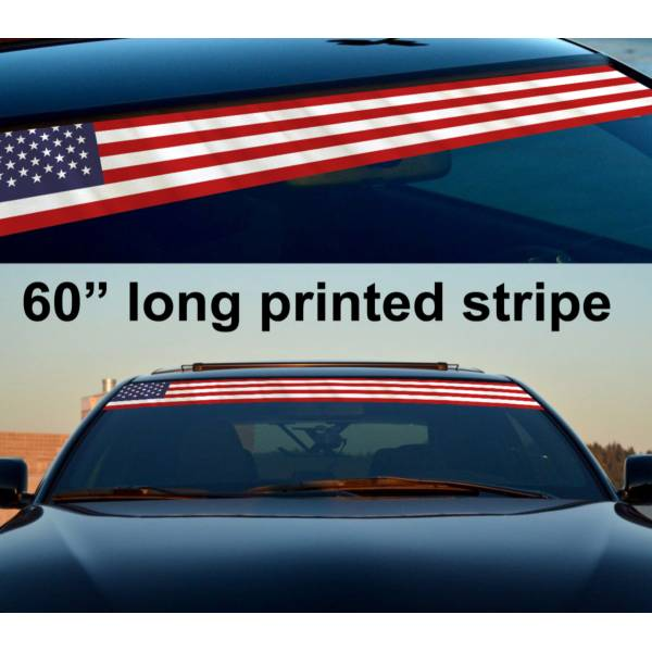"""60"""" Any Country Flag Sun Strip Printed Windshield Graphics Vinyl Sticker Decal"""