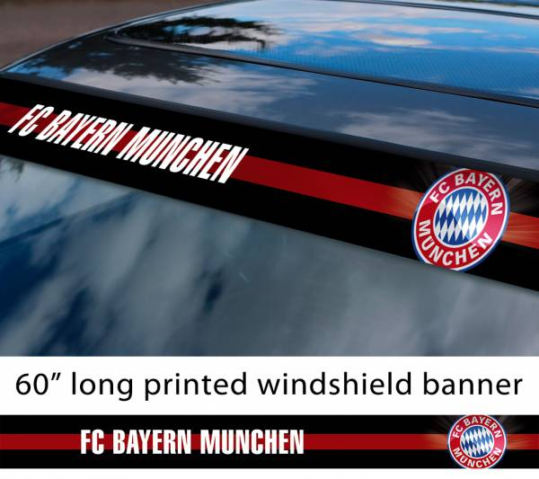 "60"" Bayern Munich FC Logo Bundesliga Football Sun Strip Printed Windshield Car Vinyl Sticker Decal"