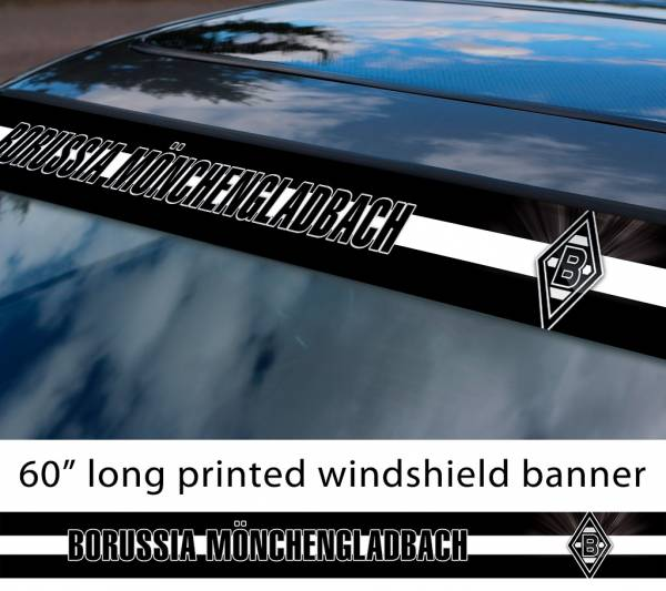 "60"" Borussia Mönchengladbach Gladbach FC Logo Bundesliga Football Sun Strip Printed Windshield Car Vinyl Sticker Decal"