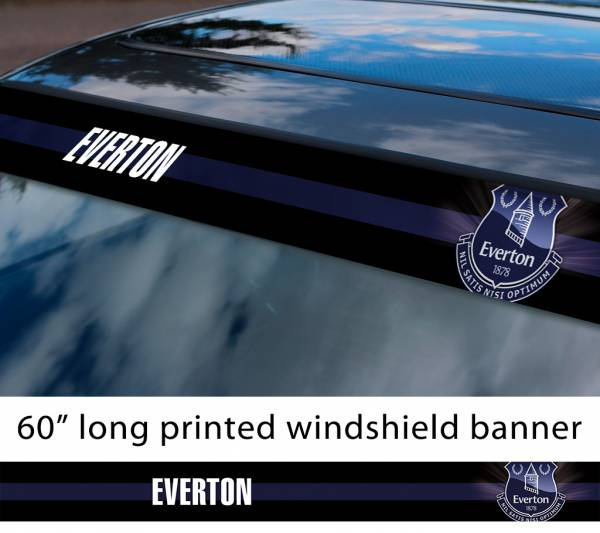 "60"" Everton FC Logo BPremier League Football Sun Strip Printed Windshield Car Vinyl Sticker Decal"