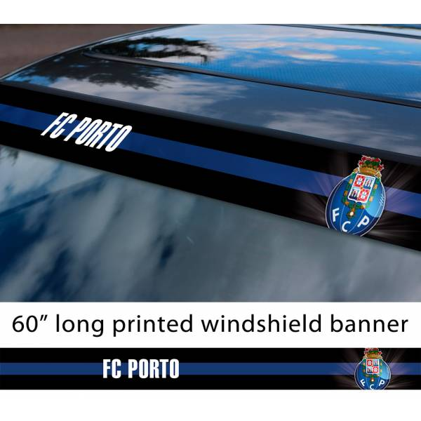 "60"" Porto FC Logo Porugal Football Sun Strip Printed Windshield Car Vinyl Sticker Decal"