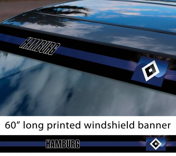 "60"" Hamburg Hamburger SV HSV FC Logo Bundesliga Football Sun Strip Printed Windshield Car Vinyl Sticker Decal"