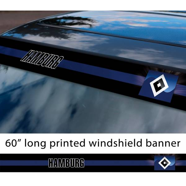 "60"" Hamburg Hamburger SV HSV FC Logo Bundesliga Football Sun Strip Printed Windshield Car Vinyl Sticker Decal"