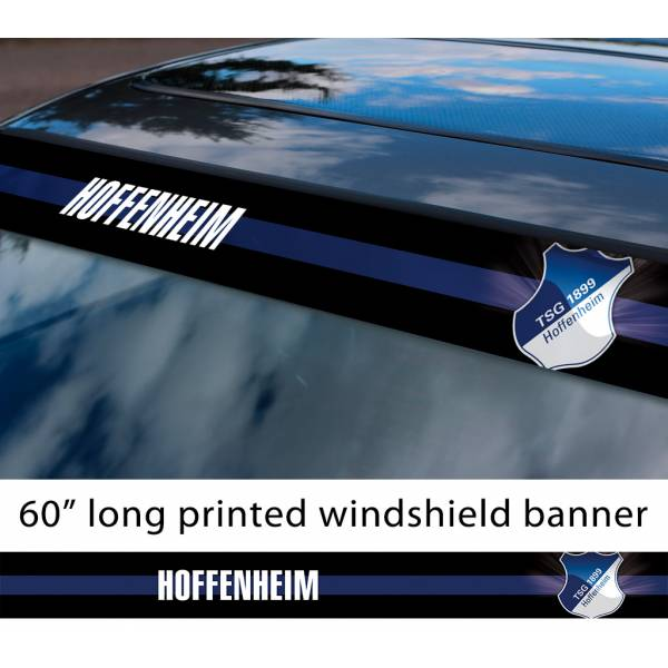 "60"" Hoffenheim TSG 1899 FC Logo Bundesliga Football Sun Strip Printed Windshield Car Vinyl Sticker Decal"