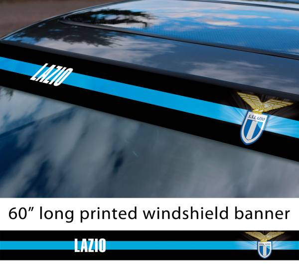 "60"" Lazio S.S. Roma FC Logo Italian Serie A Football Sun Strip Printed Windshield Car Vinyl Sticker Decal"