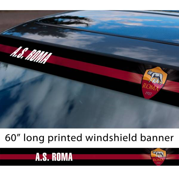 "60"" Roma A. S. Totti FC Logo Italian Serie A Football Sun Strip Printed Windshield Car Vinyl Sticker Decal"