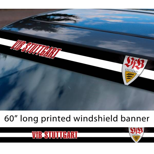 "60"" Stuttgart VfB FC Logo Bundesliga Football Sun Strip Printed Windshield Car Vinyl Sticker Decal"