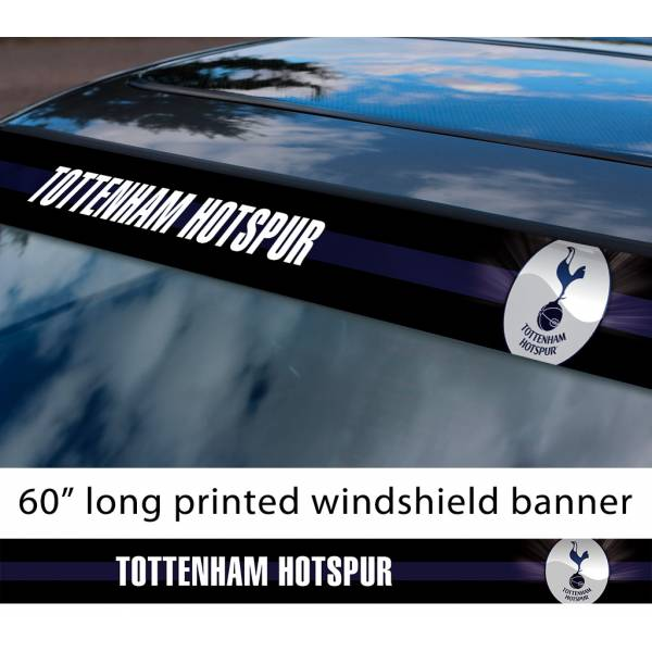 "60"" Tottenham Hotspur FC Logo Premier League Football Sun Strip Printed Windshield Car Vinyl Sticker Decal"