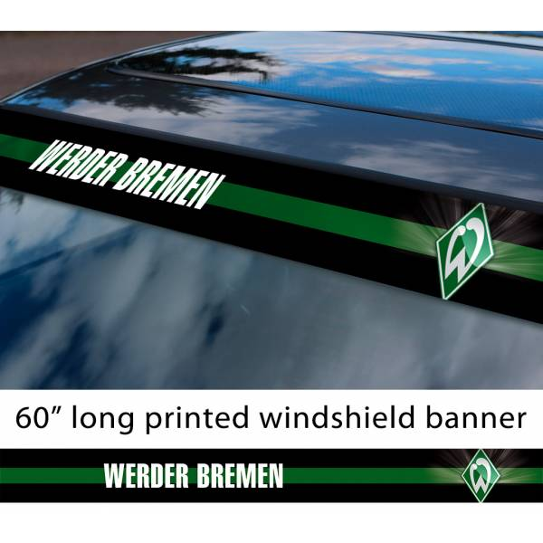 "60"" Werder Bremen FC Logo Bundesliga Football Sun Strip Printed Windshield Car Vinyl Sticker Decal"