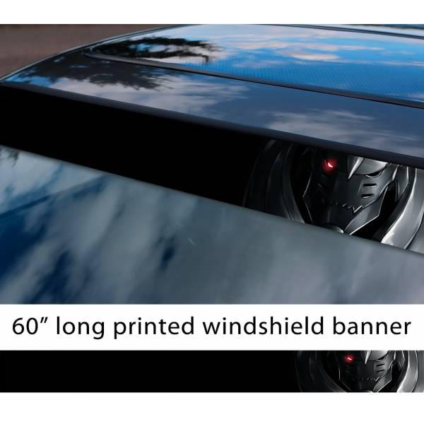 "60"" Fullmetal Alchemist v8 Ed Al Elric Homunculus Envy Lust Pride Anime Sun Strip Printed Windshield Car Vinyl Sticker Decal>"