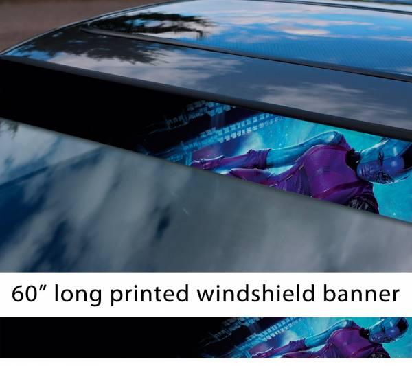 "60"" Guardians of the Galaxy Nebula Cyborg Sexy Hot Talos gamora Comic Marvel Sun Strip Printed Car Vinyl Sticker Decal"
