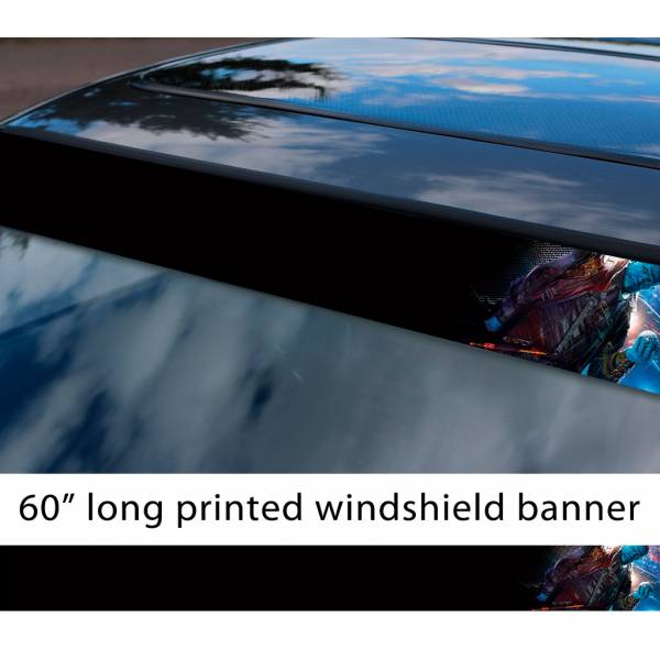 "60"" Guardians of the Galaxy Yondu Udonta Mary Poppins Y'all Arrow Comic Marvel Sun Strip Printed Car Vinyl Sticker Decal"