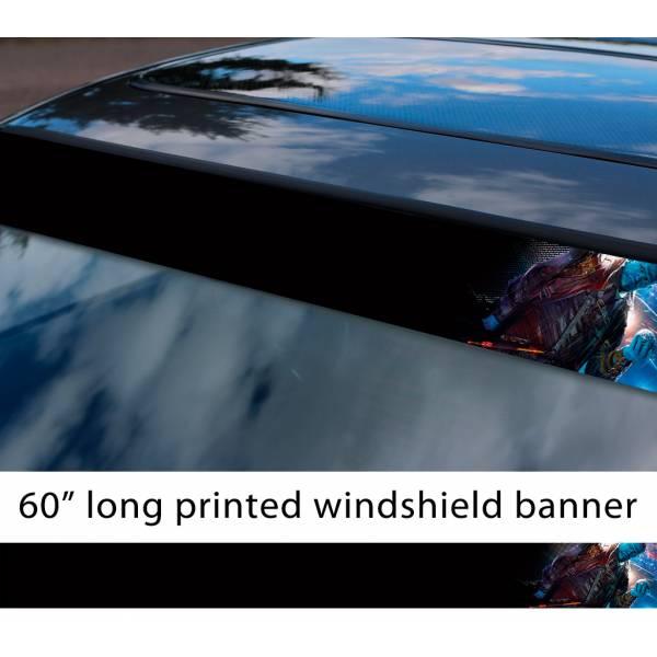 """60"""" Guardians of the Galaxy Yondu Udonta Mary Poppins Y'all Arrow Comic  Sun Strip Printed Car Vinyl Sticker Decal"""