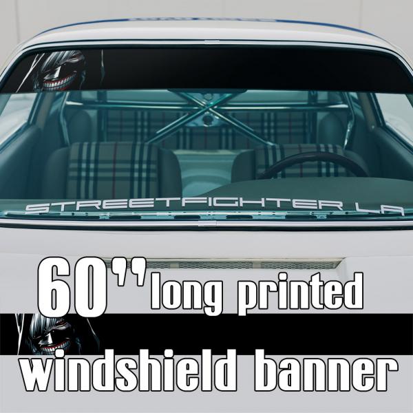 "60"" Ken Kaneki v10 Mask Blood Manga Anime Sun Strip Printed Windshield Car Vinyl Sticker Decal>"