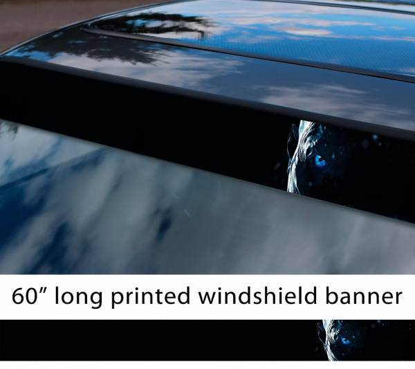 "60"" White Walker Night King Eye Winter John Snow Game Thrones GoT Sun Strip Printed Windshield Car Vinyl Sticker Decal"