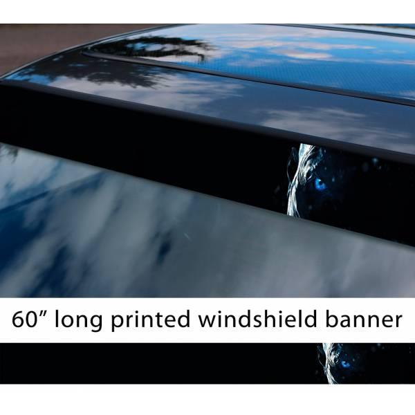 "60"" White Walker Night King Eye Winter John Snow Game Thrones GoT Sun Strip Printed Windshield Car Vinyl Sticker Decal>"