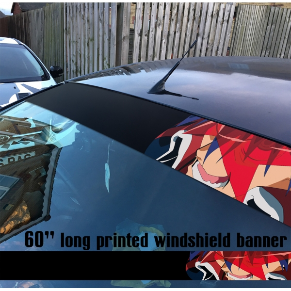 "60"" Gurren Lagann Kamina v3 Team Dai-Gurren Simon Beastmen Lordgenome Tengen Toppa Gunmen Anime Printed Windshield Car Vinyl Sticker Decal"