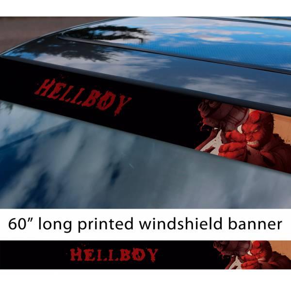 "60"" Hellboy v4 Hell Superhero Anung un Rama Comics Sun Strip Printed Windshield Graphics Vinyl Sticker Decal"