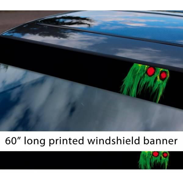 "60"" Homestuck v1 Green Skull Cherub Caliborn Lord English Calliope TV Show Sun Strip Printed Windshield Car Vinyl Sticker Decal"