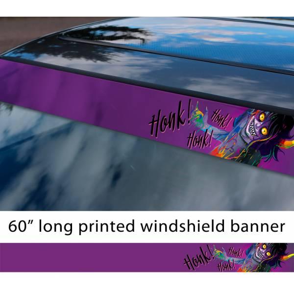 "60"" Homestuck v2 Gamzee Makara Capricorn Karkat Troll Honk! Honk TV Show Sun Strip Printed Windshield Car Vinyl Sticker Decal"