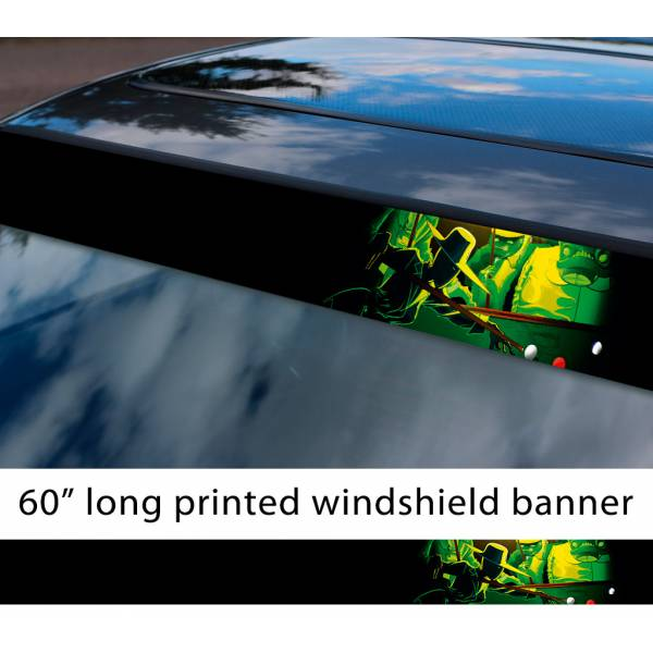 "60"" Homestuck v8 Snowman 8 Ball The Felt Lord English Billiard Pool Alternia Midnight Crew TV Show Sun Strip Printed Windshield Car Vinyl Sticker Decal"