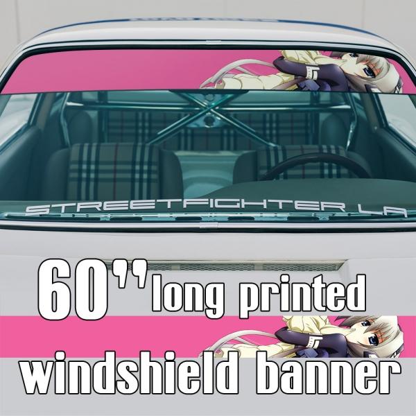 """60"""" Horizon Ariadust v1 ホライゾン•アリアダスト Matsudaira P-01s Musashi Sexy Hot Anime Manga Girl Sun Strip Printed Windshield Car Vinyl Sticker Decal>"""