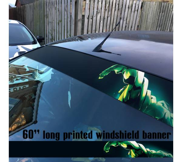"60"" The Hulk Superhero Bruce Banner Marvel Comics Sun Strip Printed Windshield Car Vinyl Sticker Decal"