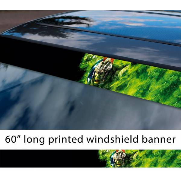 "60"" Bruce Banner Angry v3 Superhero Comic Sun Strip Printed Windshield Car Vinyl Sticker Decal>"