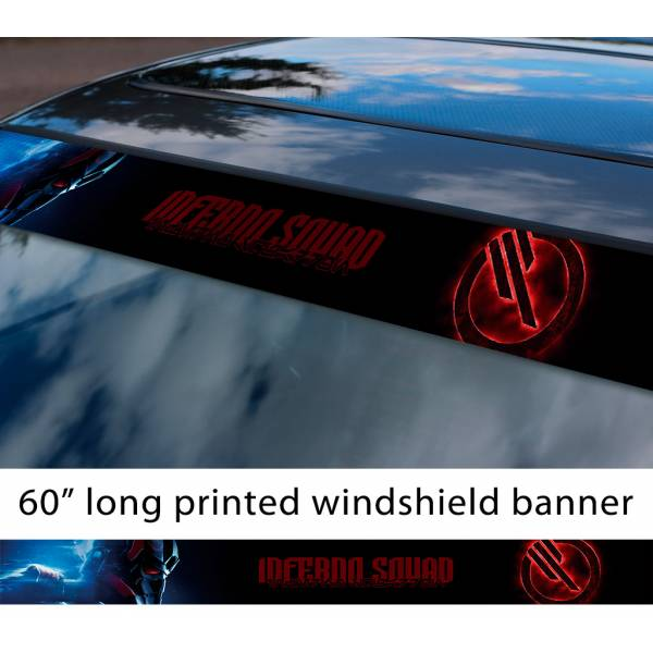 """60"""" Inferno Squad v2  TIE Fighter Galactic Empire First Order Sun Strip Printed Car Vinyl Sticker Decal>"""