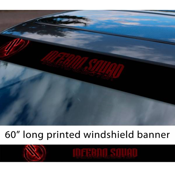 """60"""" Inferno Squad v1  TIE Fighter Galactic Empire First Order Sun Strip Printed Car Vinyl Sticker Decal>"""