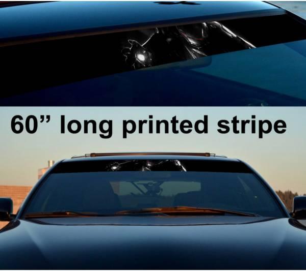 "60"" Iron Man Dark Sun Strip Printed Windshield Graphics Car Vinyl Sticker Decal"