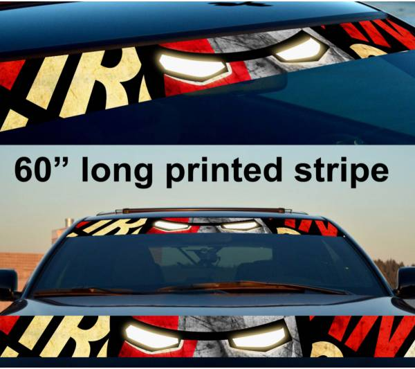 "60"" Iron Man Sun Strip Printed Windshield Graphics Car Truck Vinyl Sticker Decal"