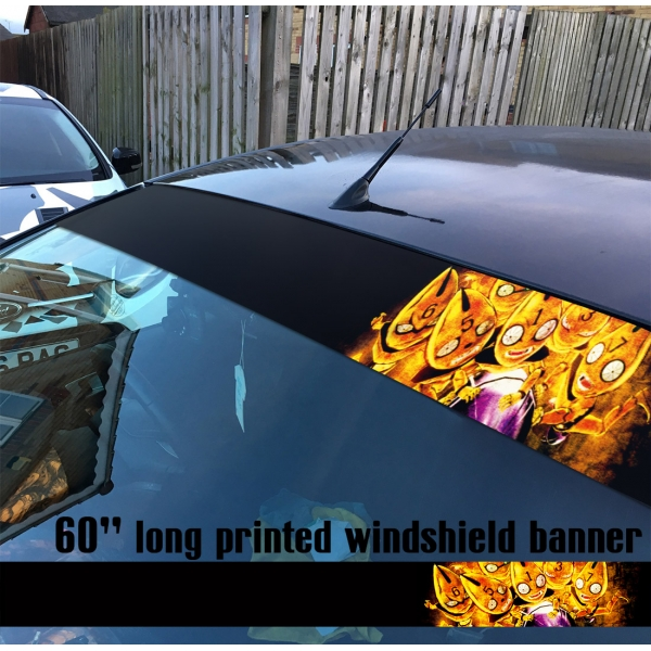 "60"" JoJo's Bizarre Adventure Sex Pistols Vento Aureo Golden Wind Manga Anime Sun Strip Printed Windshield Car Vinyl Sticker Decal"