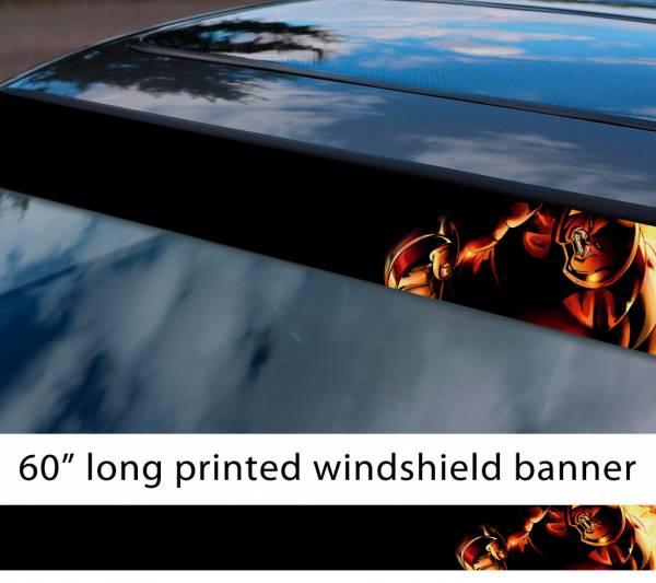 "60"" Juggernaut v2 X Men Mutant Villain Cain Marko Marvel Comics Sun Strip Printed Windshield Graphics Vinyl Sticker Decal"