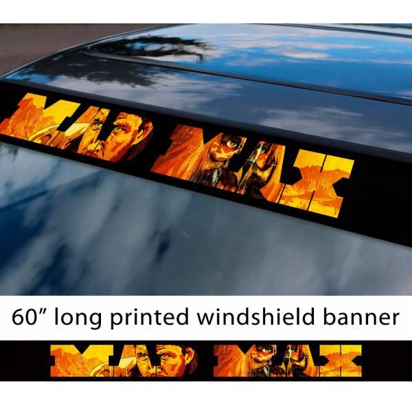 """60"""" Mad Max Fury Road Immortan Joe Logo Skull Sun Strip Printed Windshield Car Vinyl Sticker Decal"""