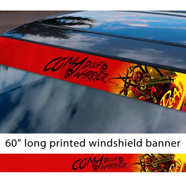 "60"" Mad Max Fury Road Coma Doof Warrior Guitar Immortan Joe Sun Strip Printed Windshield Car Vinyl Sticker Decal"