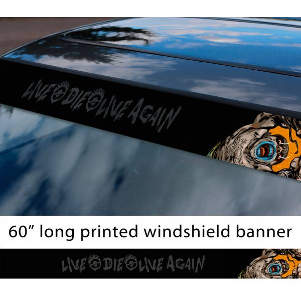 """60"""" Mad Max Fury Road Nux Live Again Die Lovely Day Sun Strip Printed Windshield Car Vinyl Sticker Decal"""