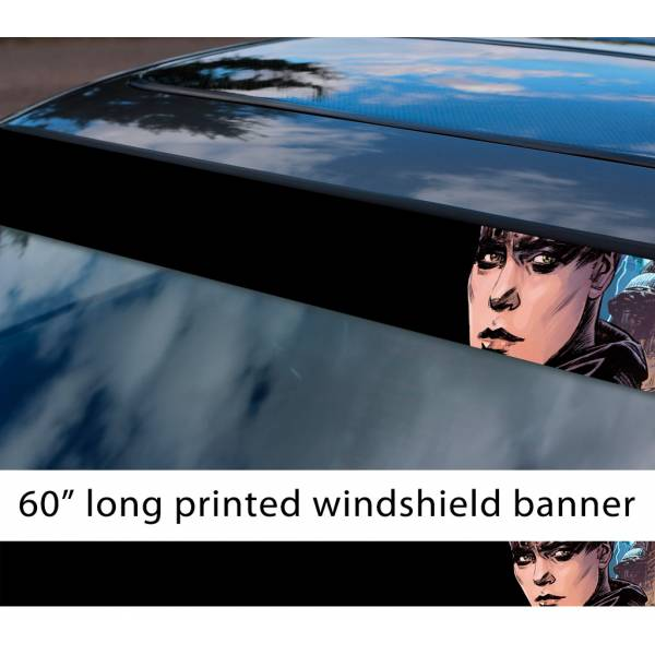 """60"""" Furiosa v1 Mad Max Fury Road Live Die Lovely Day Sun Strip Printed Windshield Car Vinyl Sticker Decal"""