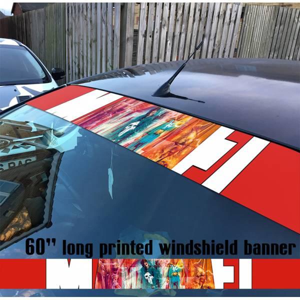 """60"""" Doctor Strange Punisher Daredevil Ghost Rider Marvel Sun Strip Printed Windshield Car Vinyl Sticker Decal"""