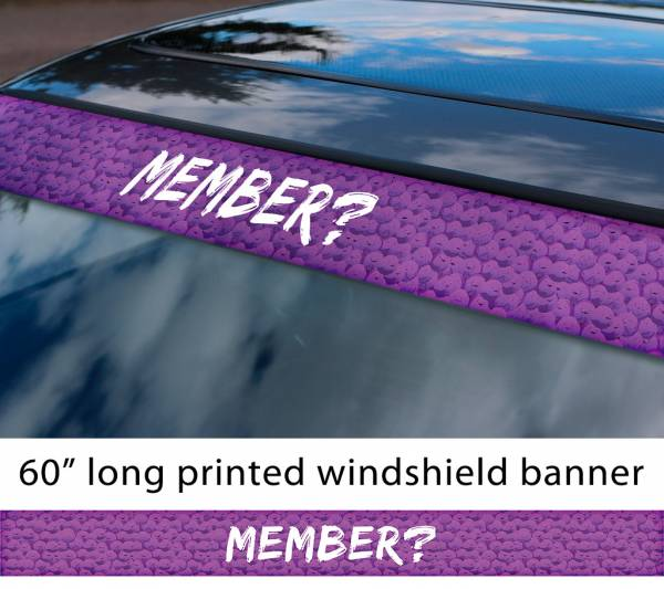 "60"" South Park Member Berries Cartman Randy Marsh Troll Skankhunt42 TV Show Sun Strip Printed Windshield Car Vinyl Sticker Decal"