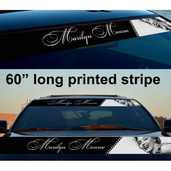 "60"" Sexy Marilyn Monroe Lady Girl Sun Strip Printed Windshield Vinyl Sticker Decal"