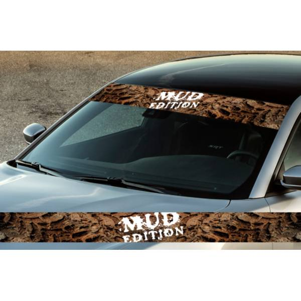 "60"" Mud Off-Road Track Dirty Trip Printed Windshield Banner Wrap Vinyl Sticker Truck"