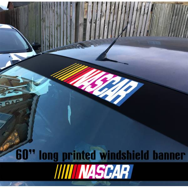 "60"" Nascar v1 Stock Auto Racing USA Monster Sun Strip Printed Windshield Car Vinyl Sticker Decal"