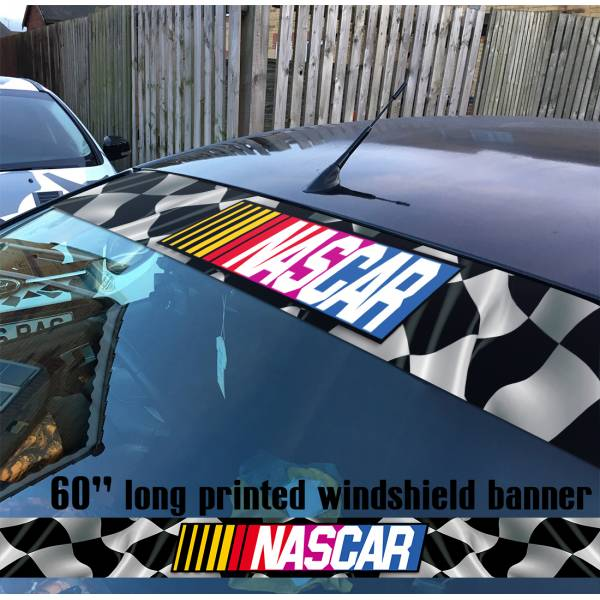"60"" Nascar v2 Stock Auto Racing USA Monster Sun Strip Printed Windshield Car Vinyl Sticker Decal"
