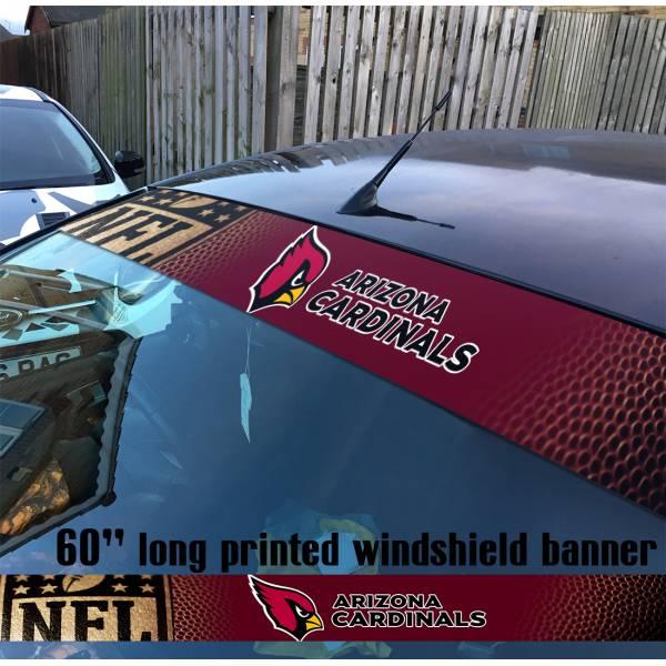 "60"" Arizona Cardinals Cards Big Red Sea Cardiac Bird Gang NFL American Super Bowl Football Sun Strip Printed Windshield Car Vinyl Sticker Decal"