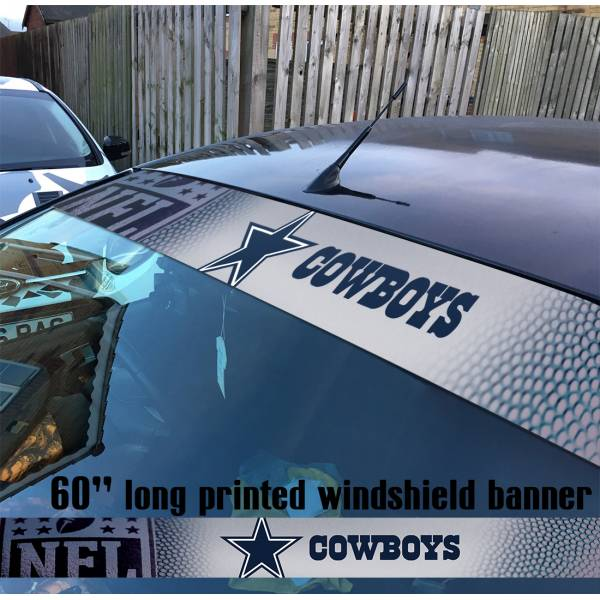 "60"" Dallas Cowboys Big D Doomsday Defense America's Team NFL American Super Bowl Football Sun Strip Printed Windshield Car Vinyl Sticker Decal"