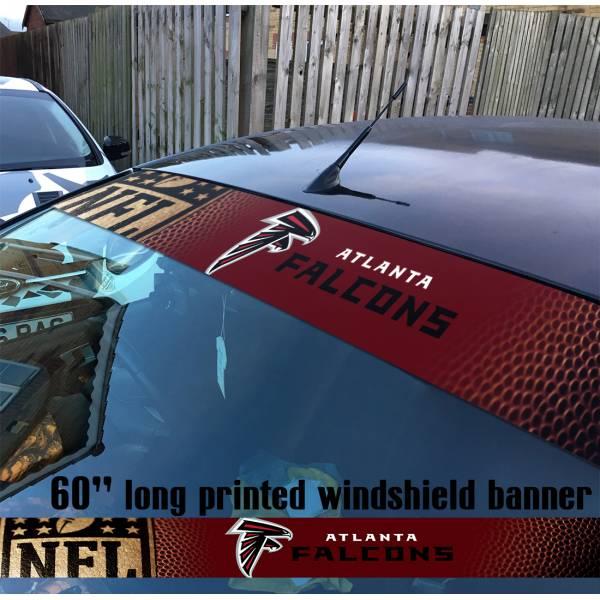 "60"" Atlanta Falcons Dirty Birds Grits Blitz NFL American Super Bowl Football Sun Strip Printed Windshield Car Vinyl Sticker Decal"
