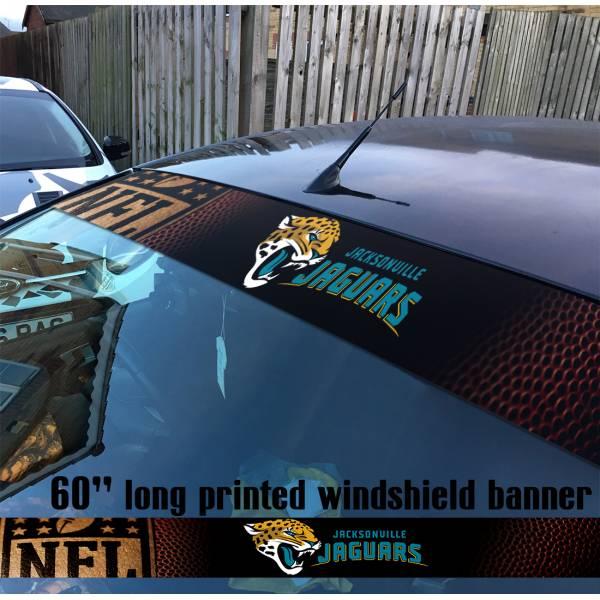 "60"" Jacksonville Jaguars Florida Logo NFL USA American Super Bowl Football Sun Strip Printed Windshield Car Vinyl Sticker Decal"