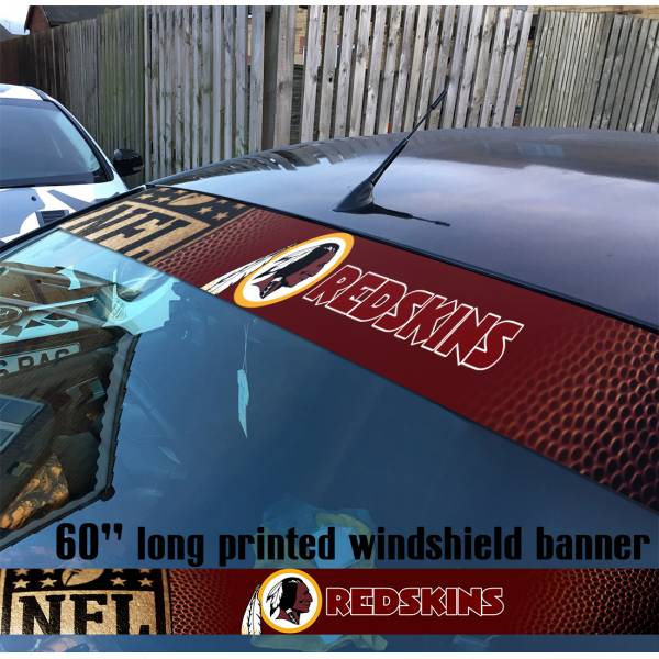"60"" Washington Redskins Skins NFL American Super Bowl Football Sun Strip Printed Windshield Car Vinyl Sticker Decal"