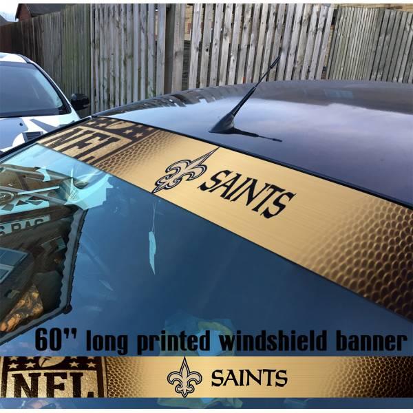 "60"" New Orleans Saints Dome Patrol Aints Bless You Boys NFL American Super Bowl Football Sun Strip Printed Windshield Car Vinyl Sticker Decal"
